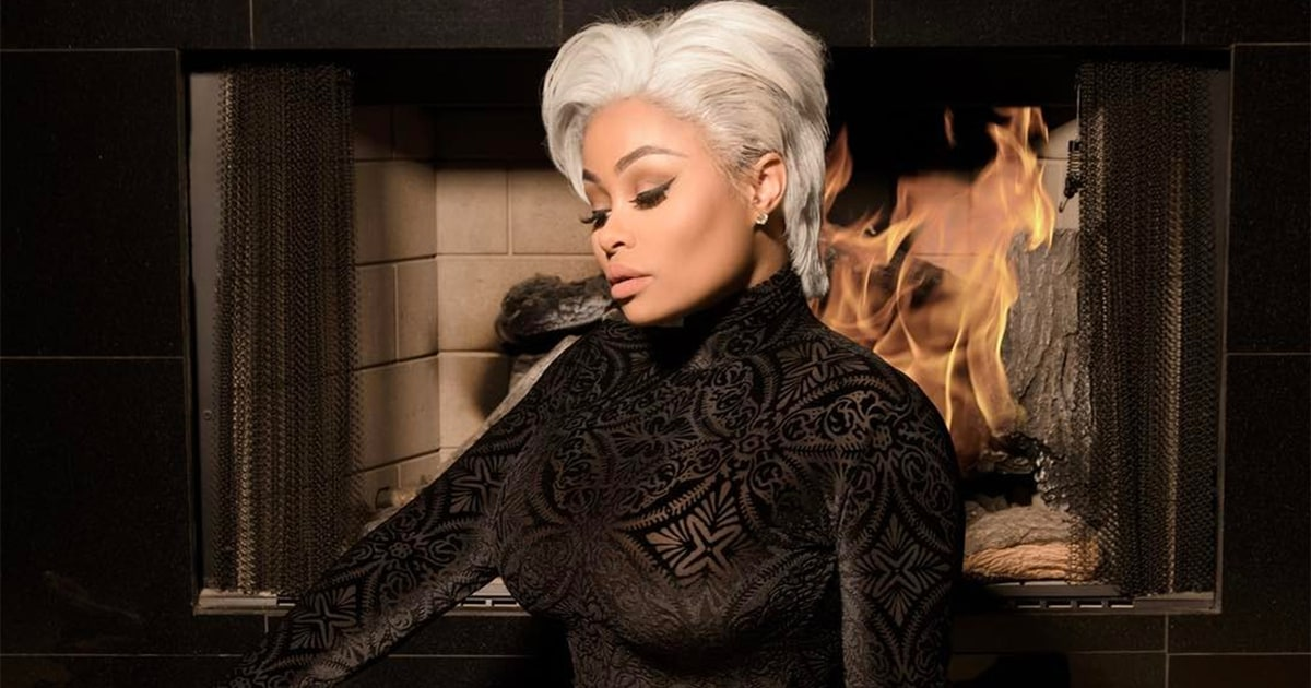Blac Chyna Channels Kris Jenner With New Silver Pixie Cut: Pics