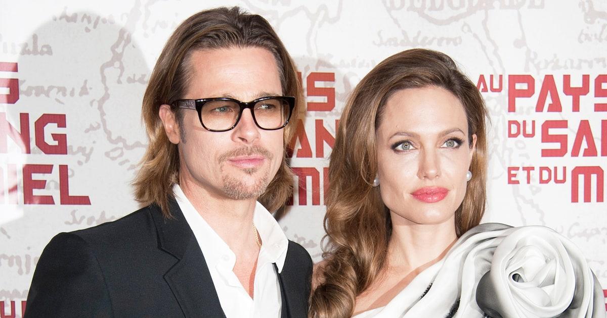 Brad Pitt, Angelina Jolie's Plane Fight Caught on Video ... Angelina Jolie And Brad Pitt