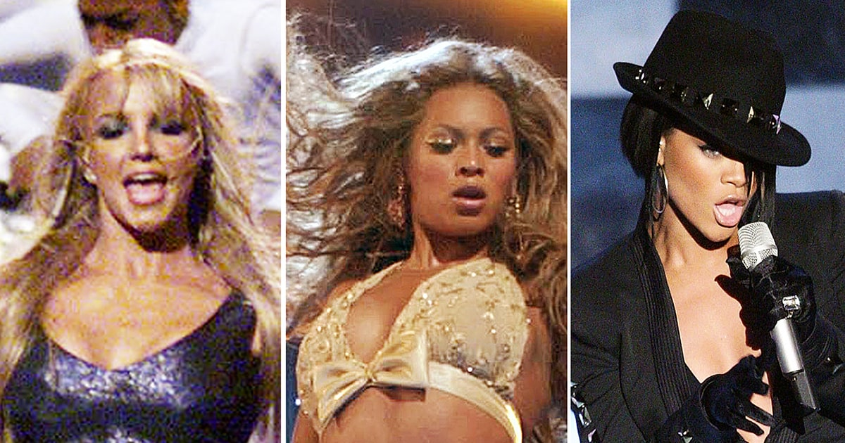 relive britney spears beyonce rihannas first vmas