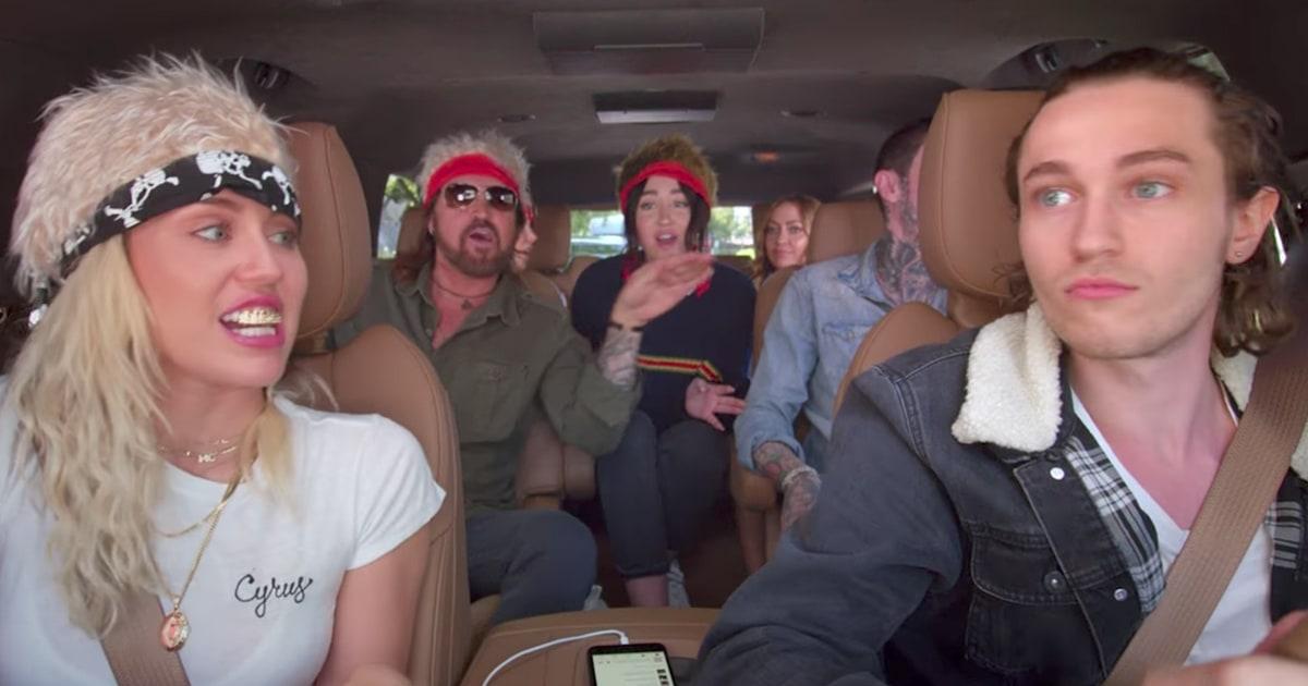Miley Cyrus, Family Sing Achy Breaky Heart: Carpool Karaoke - Rolling Stone
