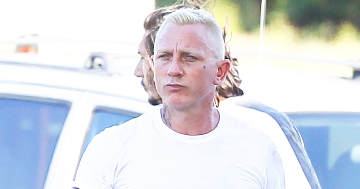 Daniel Craig Is Unrecognizable With Platinum Hair, Tattoos ...