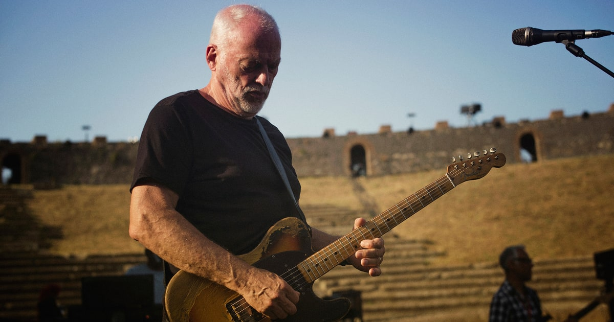 david gilmour talks stunning new pompeii concert film rolling stone. Black Bedroom Furniture Sets. Home Design Ideas