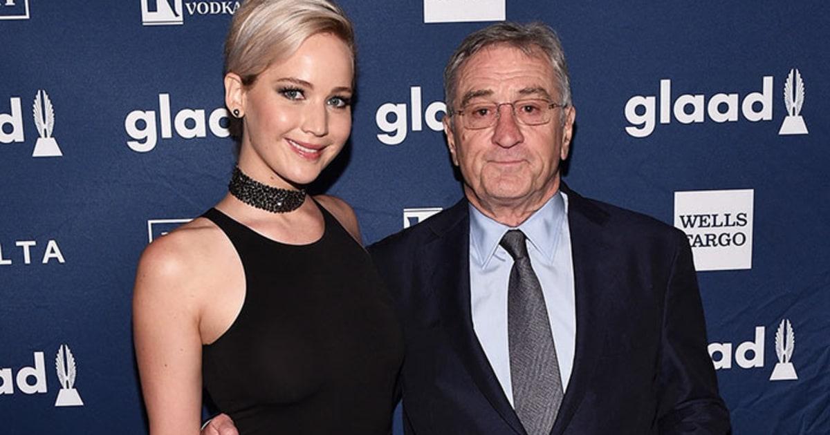 Robert De Niro Jokes With Jennifer Lawrence at GLAAD Awards - Us Weekly