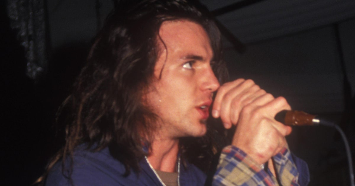 Eddie Vedder Pearl Jam Lead Singer Better Man In 1989