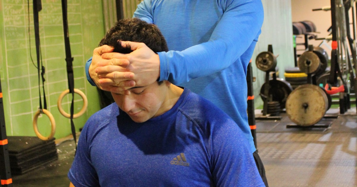 Manual Resistance Flexion 3 Simple Exercises For A Strong Injury Free Neck Men S Journal
