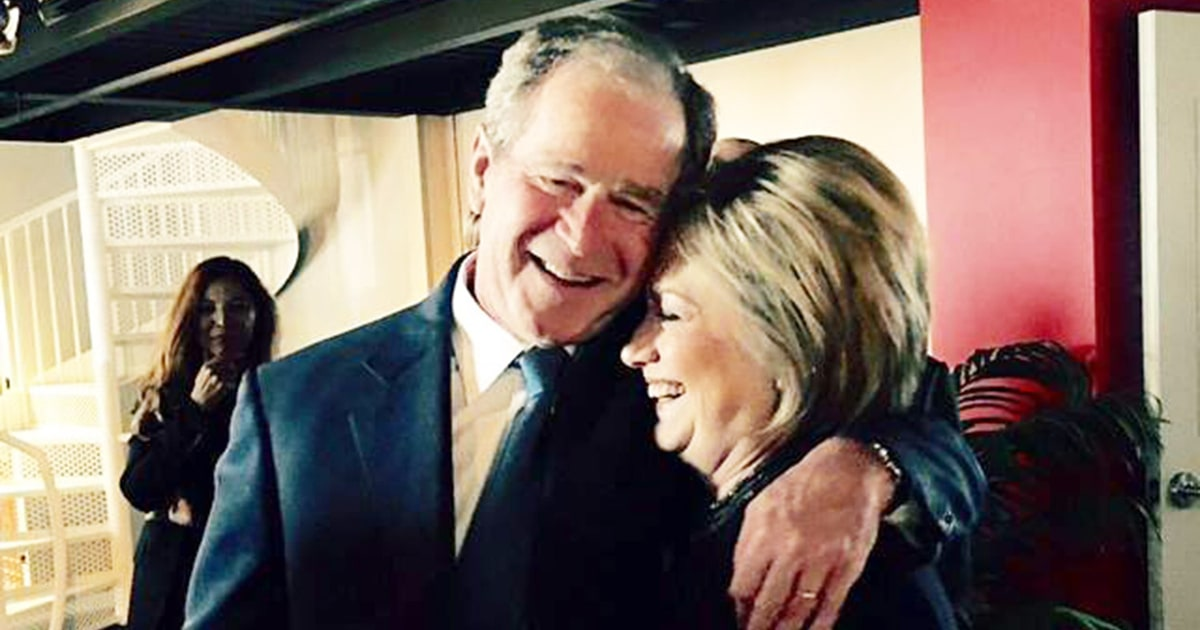 Image result for hillary clinton and bush