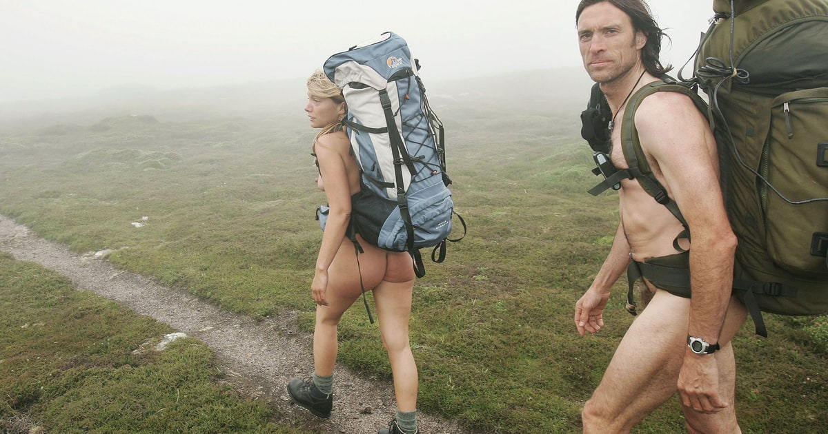 Naked women hiking really arousing