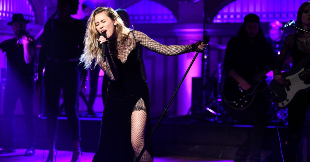 'SNL': Miley Cyrus Debuts New LP Songs, Does 'The Baby ...