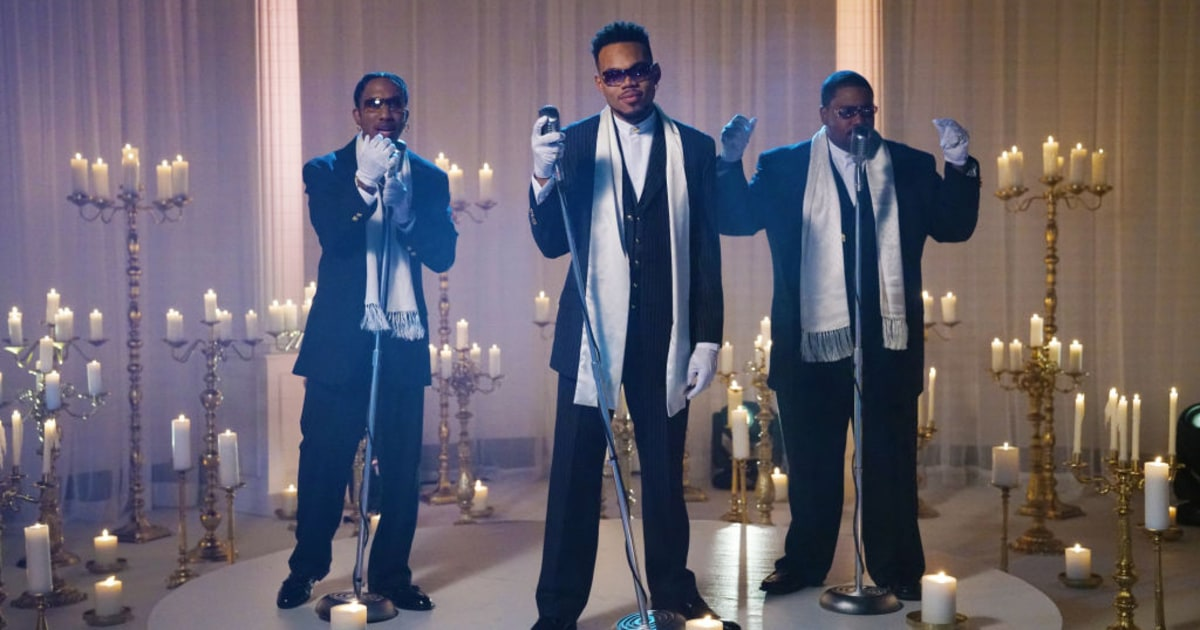See Chance the Rapper's Boyz II Men-Sendup 'Come Back, Barack' on 'SNL'