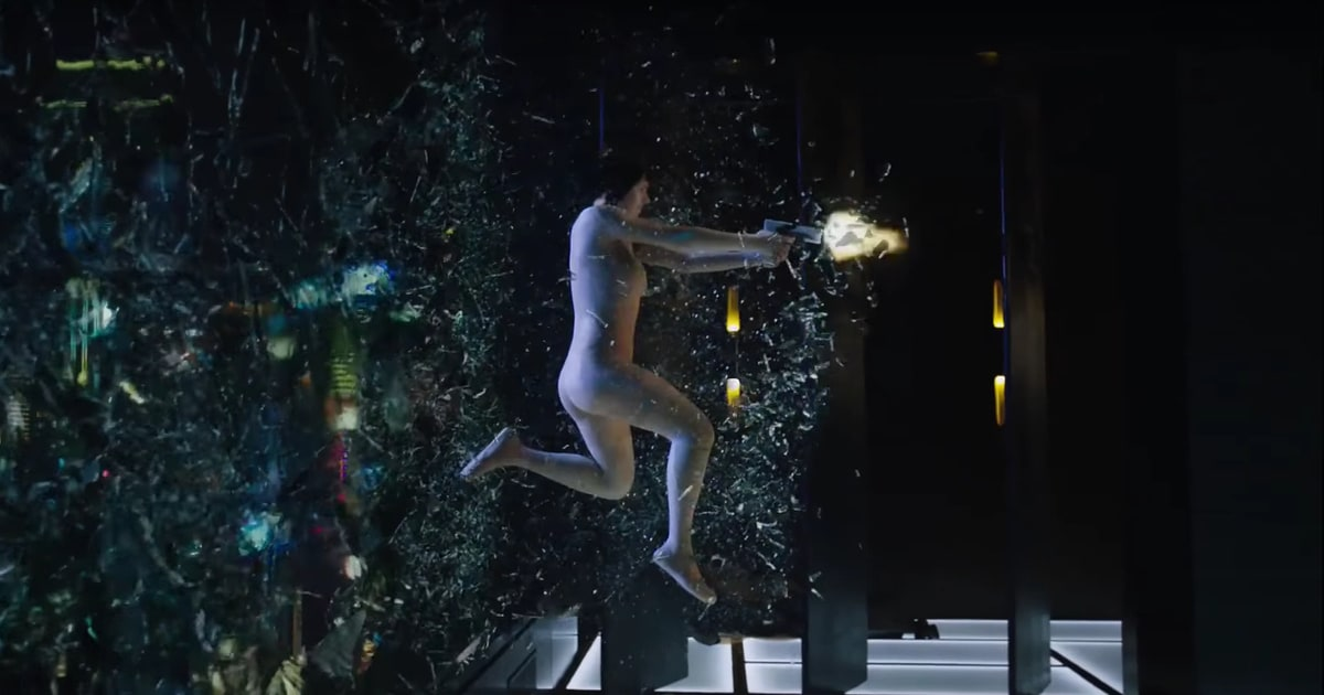 see explosive first ghost in the shell trailer rolling