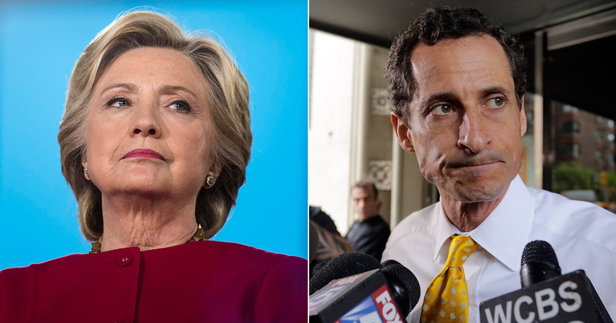 Image result for anthony weiner hillary clinton
