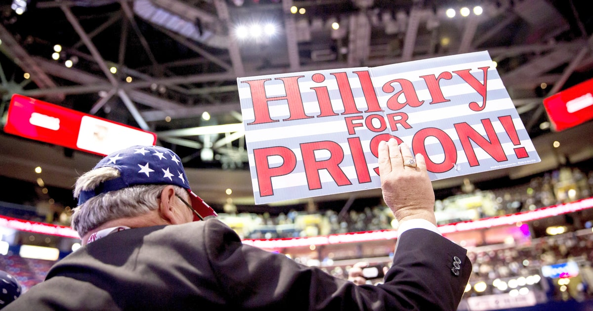 How Lock Her Up Became A Mainstream Gop Rallying Cry
