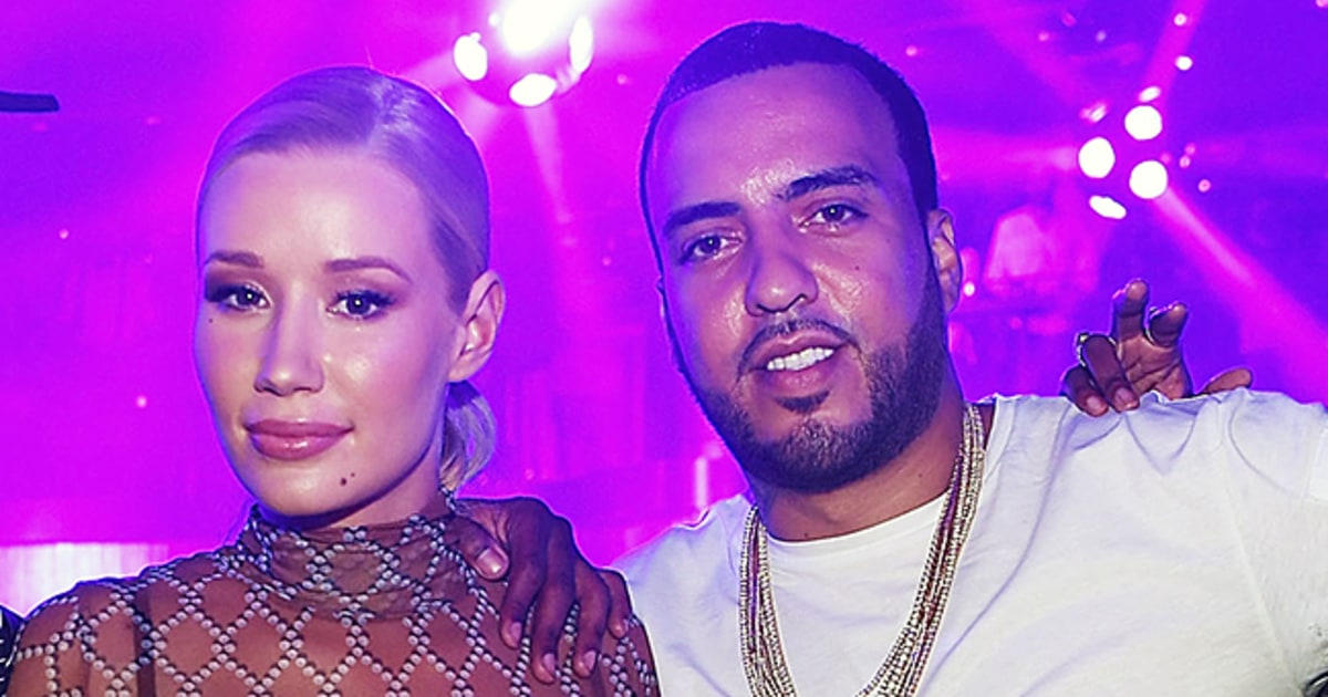 Iggy Azalea and her ex-boyfriend French Montana