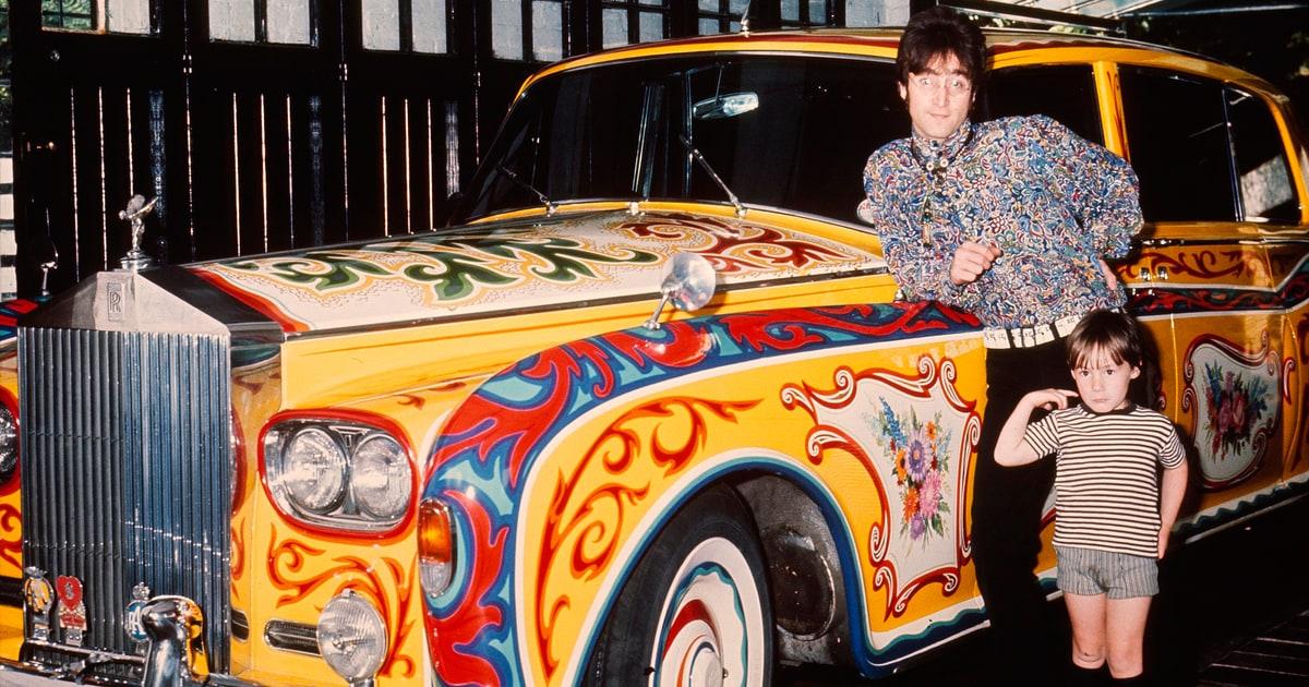 John lennon 39 s phantom v the psychedelic beatle mobile for Car paint shop prices