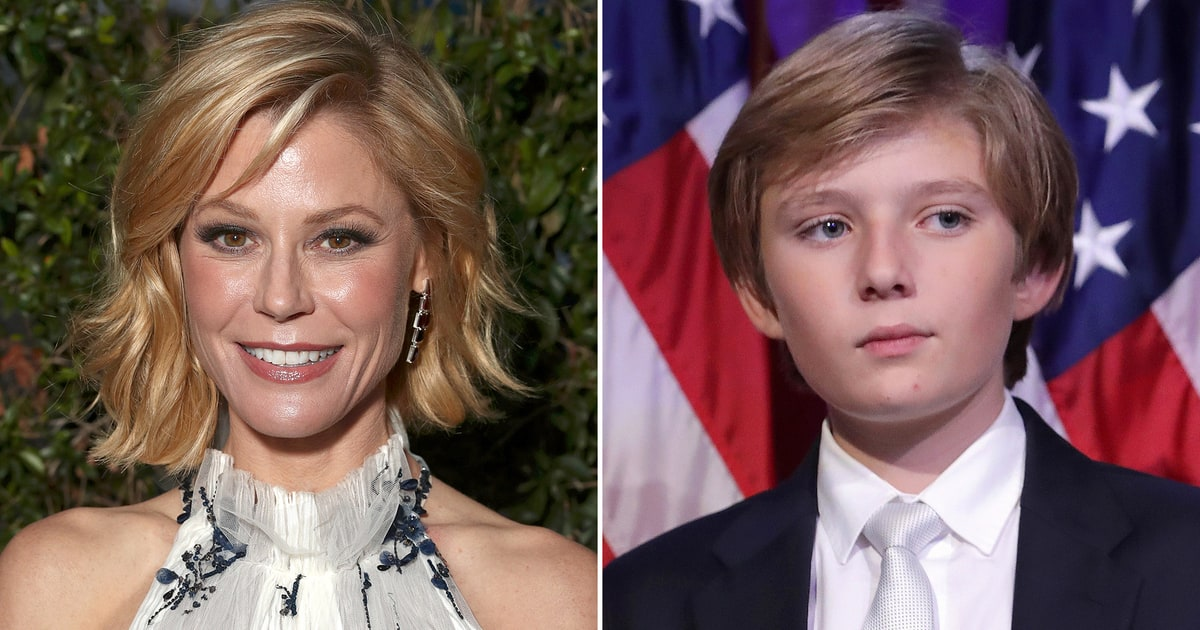 news julie bowen faces criticism joking about barron trump during inauguration