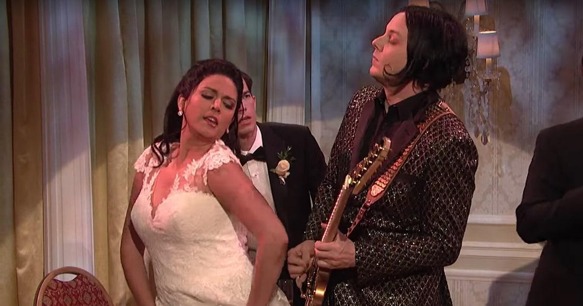 watch jack white play wedding band guitarist in snl