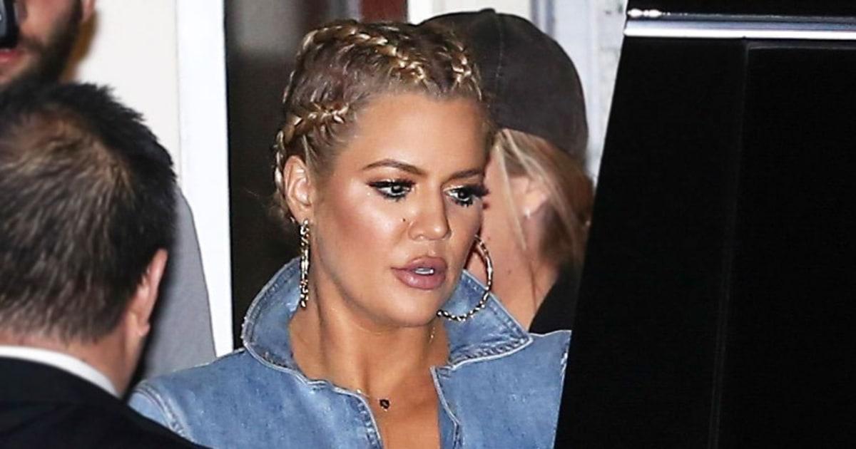 Peachy Khloe Kardashian Styles Her Lob Hairstyle Into Cornrows Us Weekly Hairstyles For Women Draintrainus