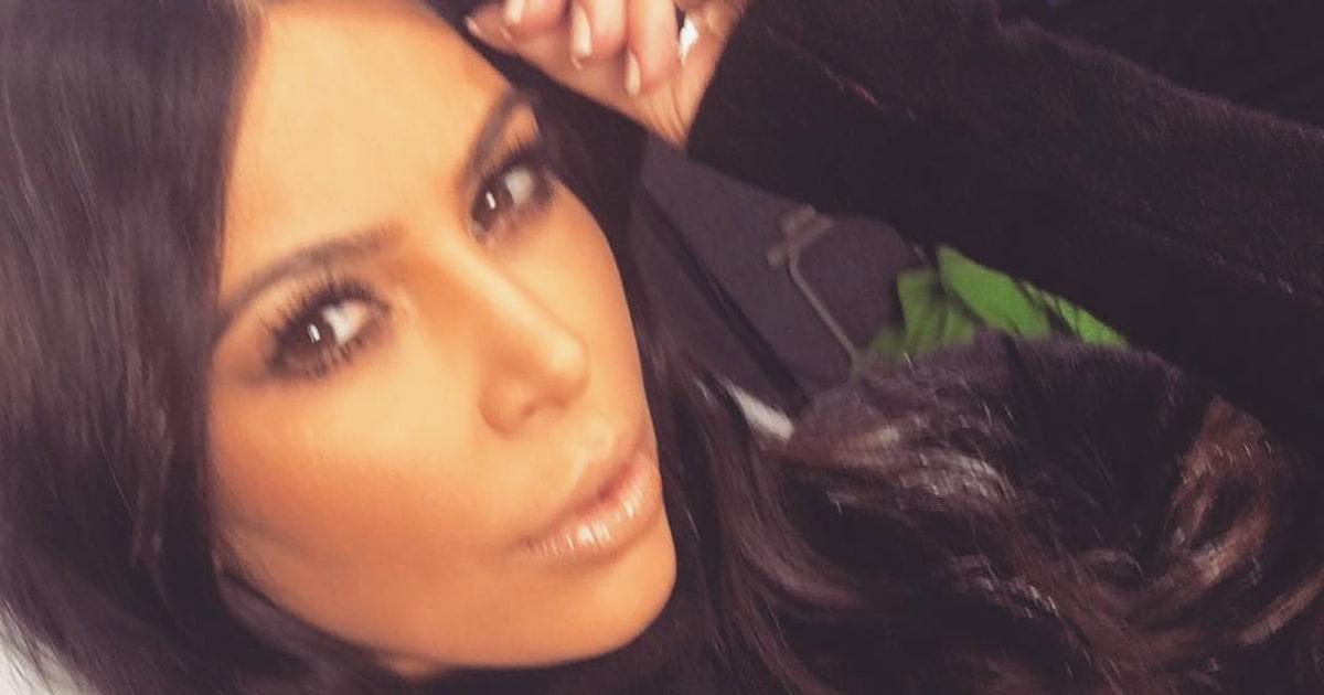 Kim Kardashian Ditches The Braids In New Instagram Photo