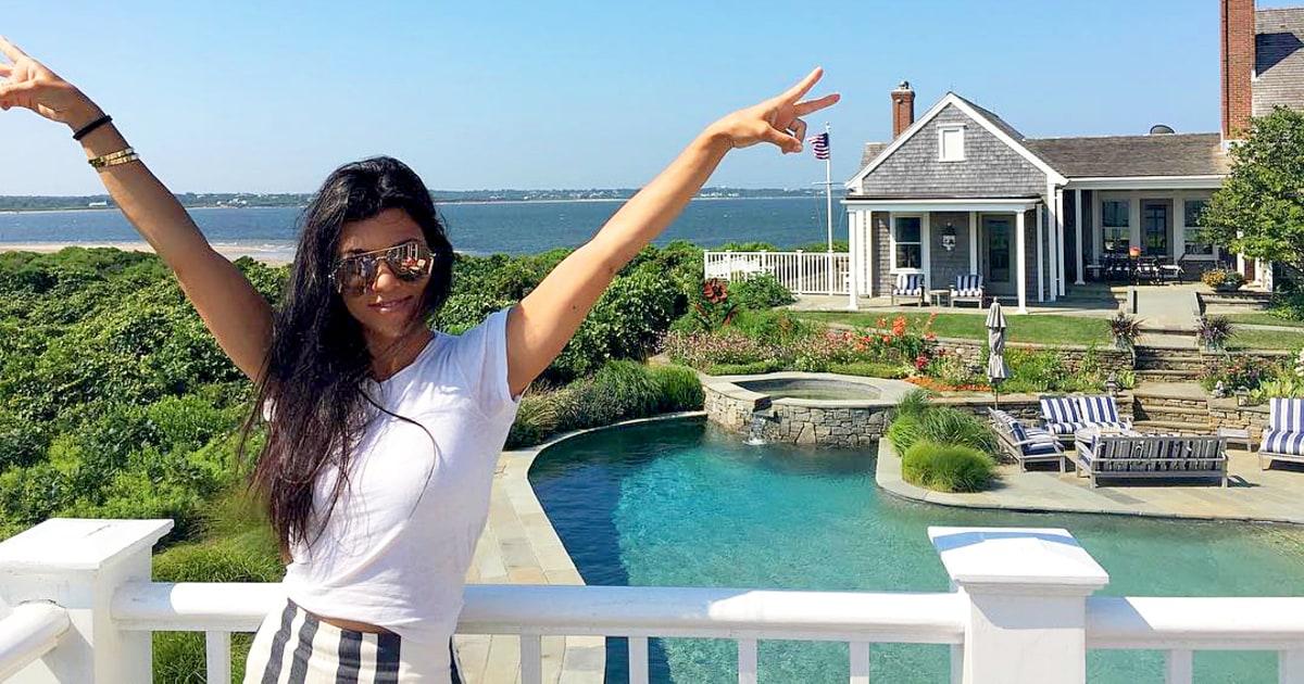 See Kourtney Kardashian S Luxe Nantucket Summer Airbnb