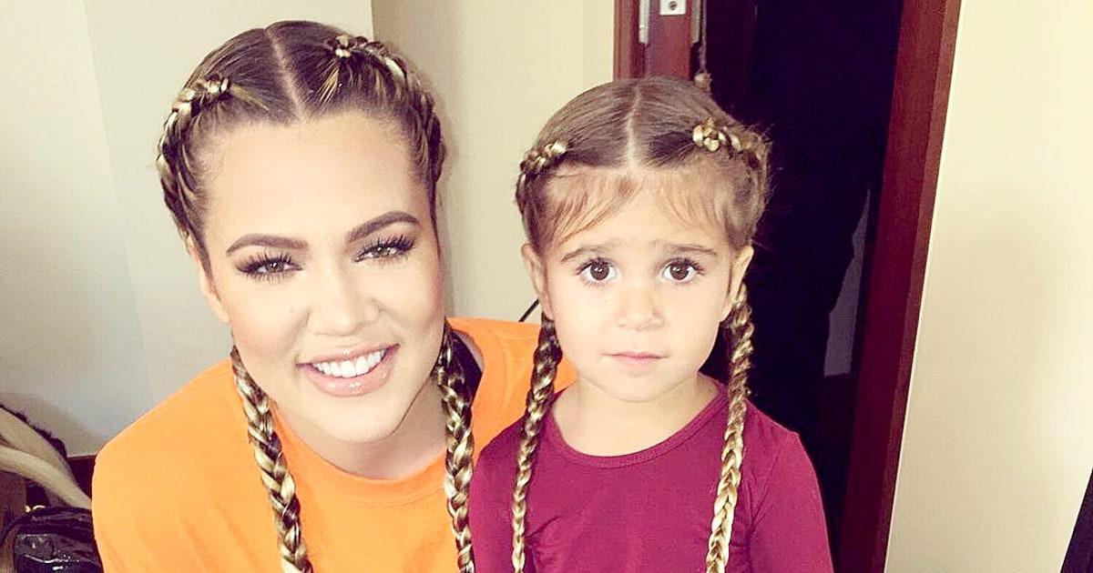 Remarkable Penelope Disick Aunt Khloe Kardashian Rock Matching Braids Us Hairstyles For Women Draintrainus