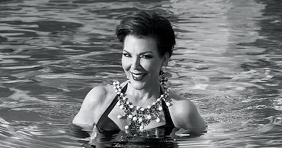kris jenner  60  rocks bathing suit for love advent