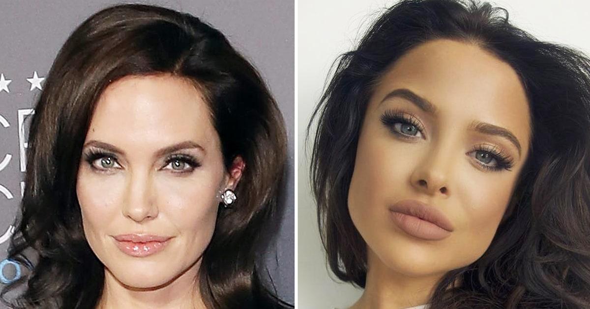 Angelina jolie has an amazing look alike photos us weekly