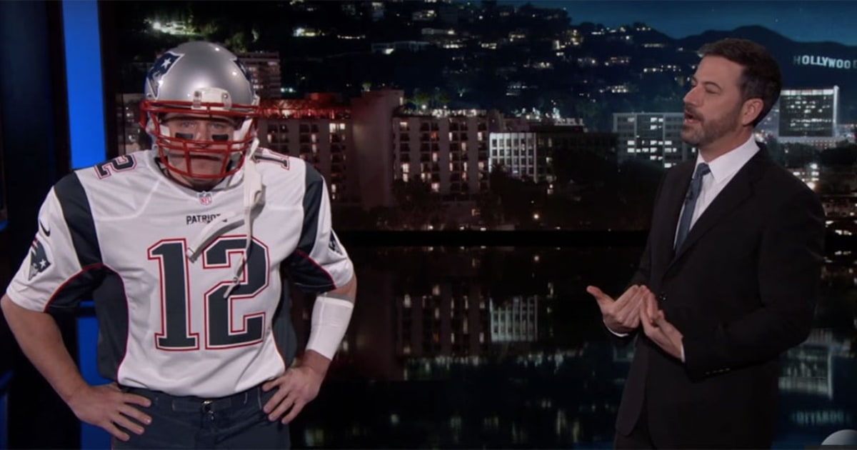 Matt Damon Pretends To Be Tom Brady On Jimmy Kimmel Live