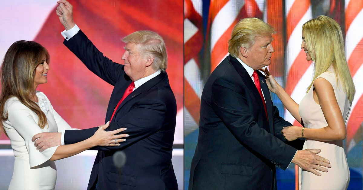 Body Language Expert Weighs In on Donald Trump's Awkward RNC Stage Hugs With Melania and Ivanka