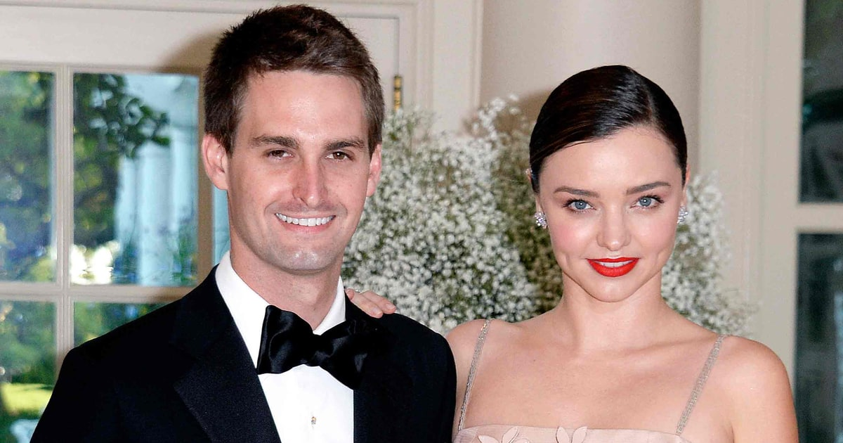 Miranda Kerr and Snap Chat CEO, Evan Spiegle are engaged