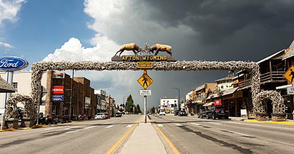 Afton wyoming 10 great small towns to visit in 2014 for Towns near jackson hole wyoming