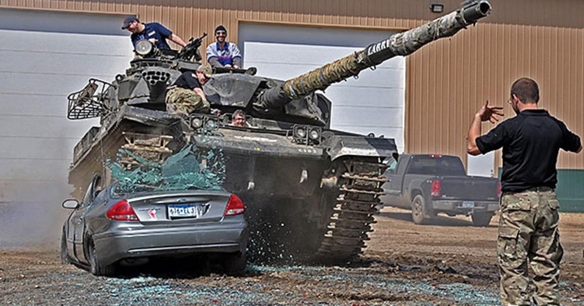 tank drive road driving