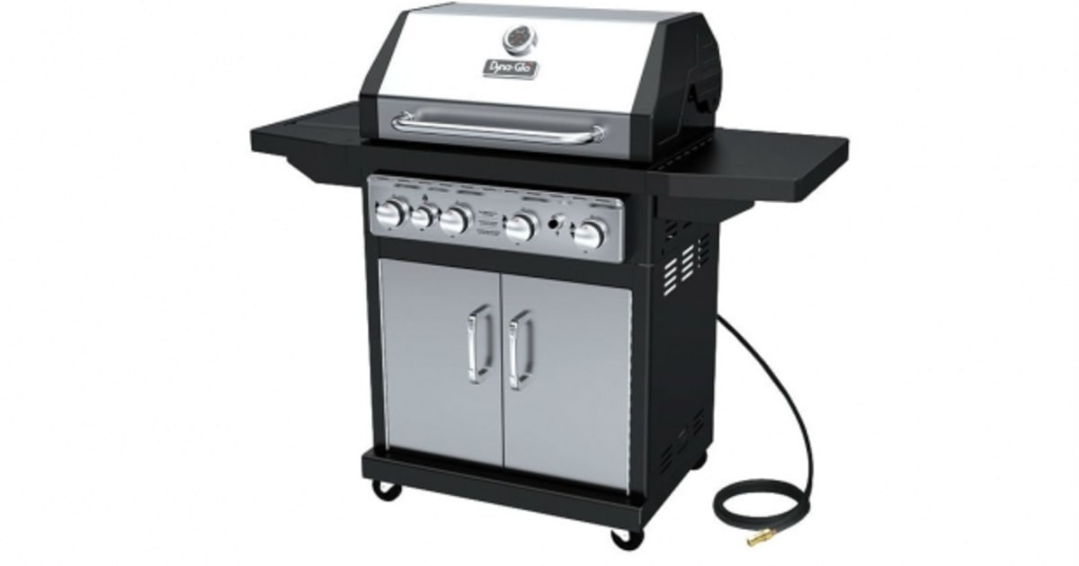dyna glo 4 burner propane gas grill the best grills for 600 or less men 39 s journal. Black Bedroom Furniture Sets. Home Design Ideas