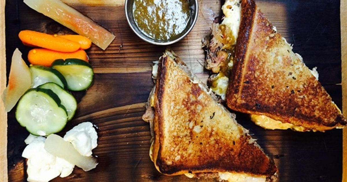 Beef Brisket Sandwich, Pimento Cheese, Green Tomato Jalapeno Jam ...
