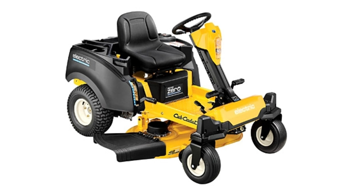 Cub Cadet Electric Lawn Mower : Cub cadet rzt s zero great cordless electric lawn
