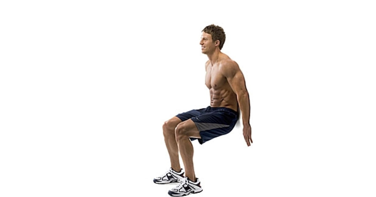 wall sit the only 5 moves you need for a healthy back men 39 s journal. Black Bedroom Furniture Sets. Home Design Ideas