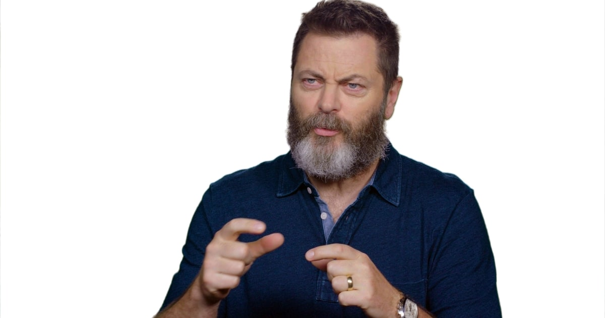 watch nick offerman reveal his first time drinking scotch rolling stone. Black Bedroom Furniture Sets. Home Design Ideas