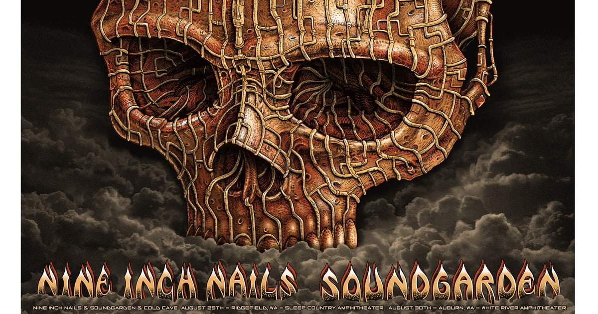 Nine Inch Nails & Soundgarden, August 2013 | OMG Posters: A Decade ...