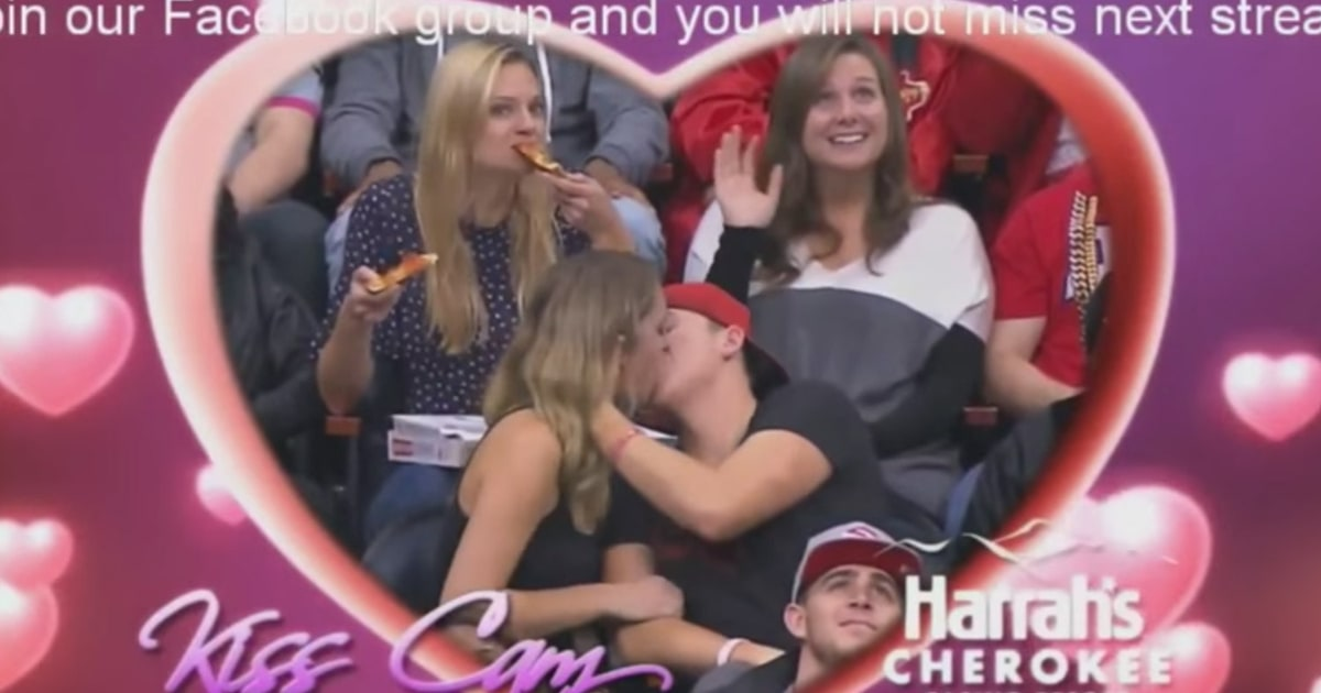 Woman Inhales Two Slices Of Pizza On Nba Kiss Cam Us Weekly