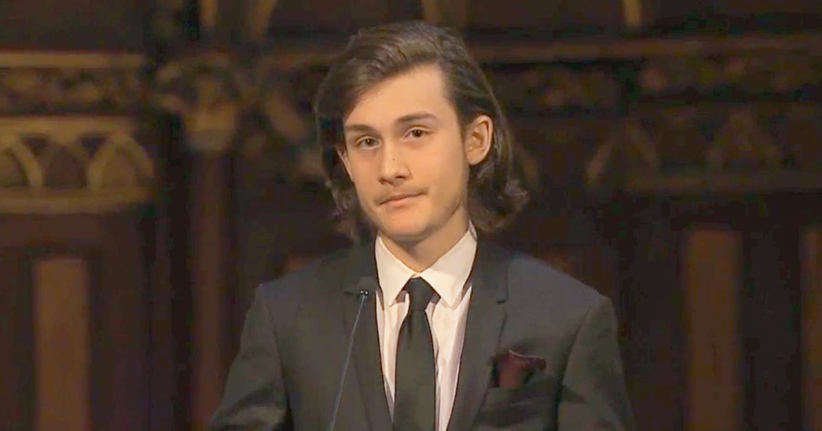 Celine Dion's Son Rene-Charles Speaks at His Dad Rene Angelil's ...