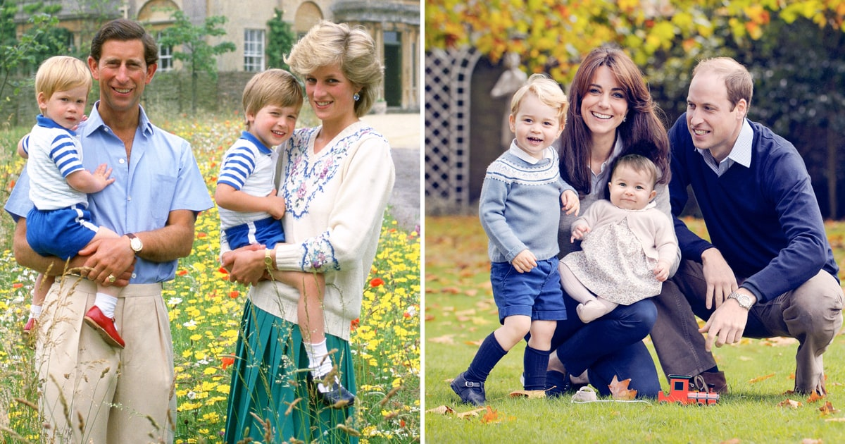 Compare The 1986 Royal Family Photo To 2015 Portrait