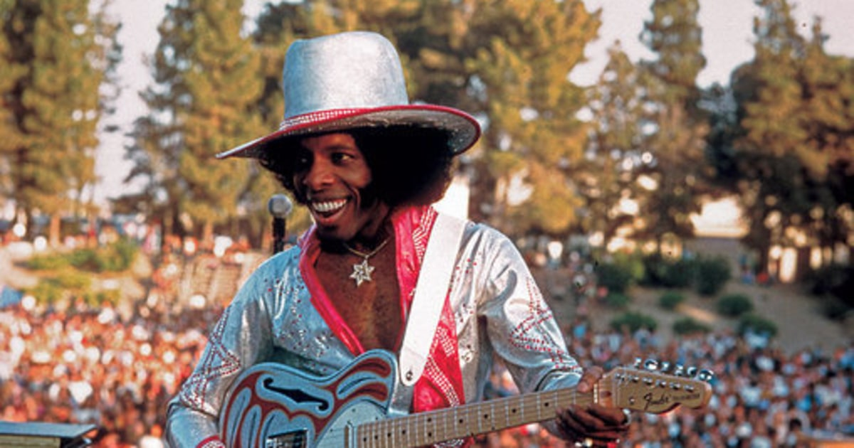 Sly Stone Photographed In San Jose California During The