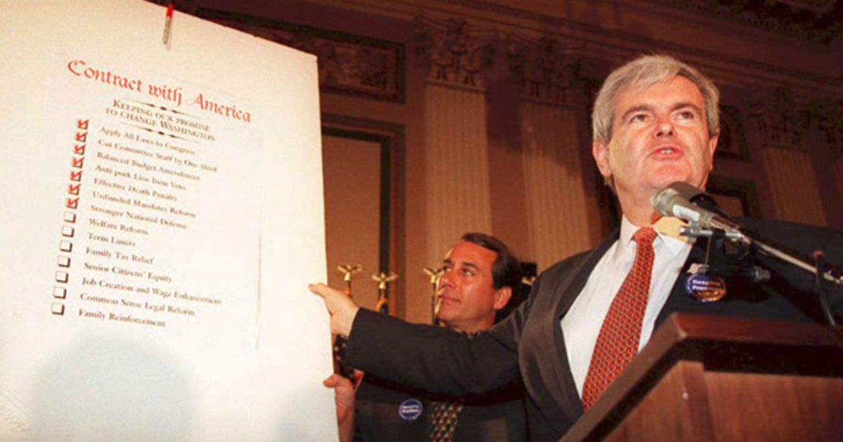 How Wily Newt Pulled The Contract With America Scam