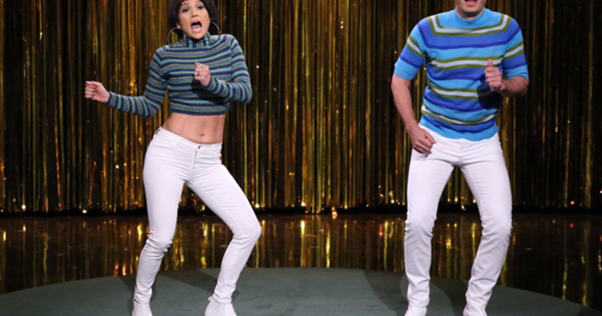 Jennifer Lopez And Jimmy Fallon Battle For Tight Pants