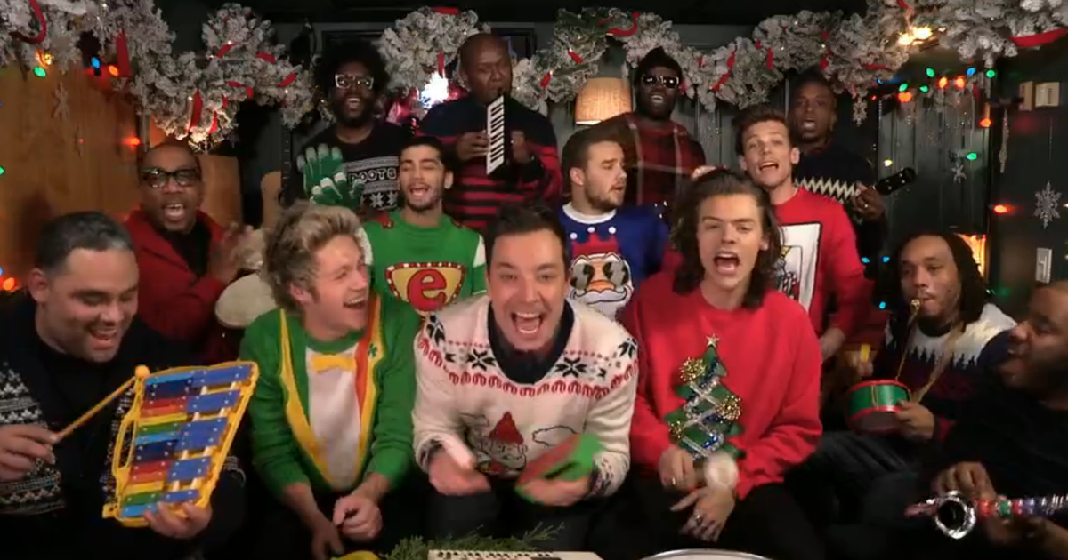 Watch One Direction, Jimmy Fallon, Roots Sing 'Santa Claus ...