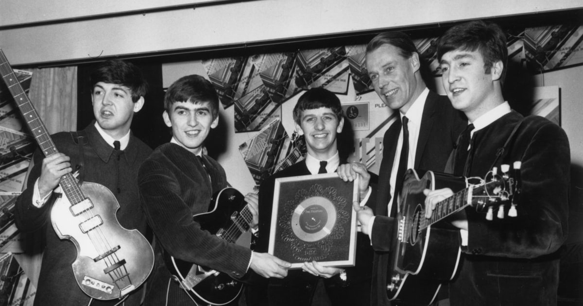 Image result for george martin beatles