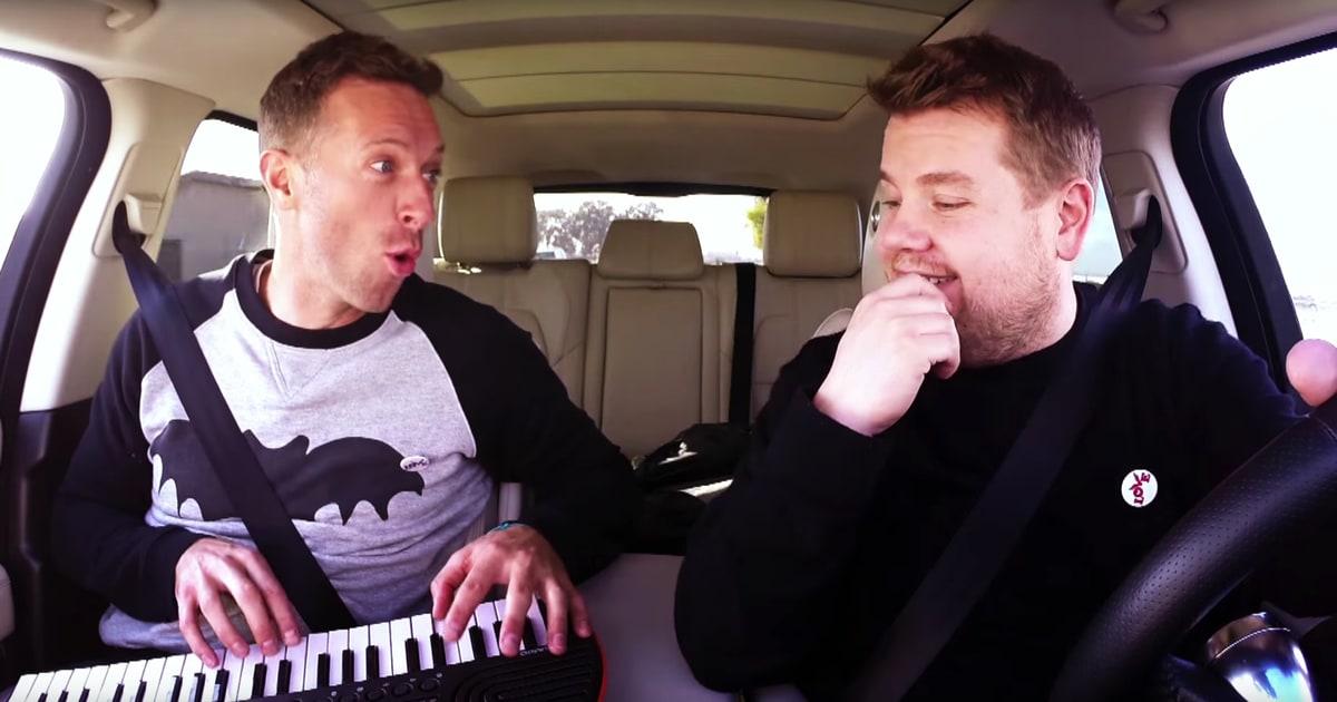 Watch chris martin sing david bowie in 39 carpool karaoke for Car pool karaoke show