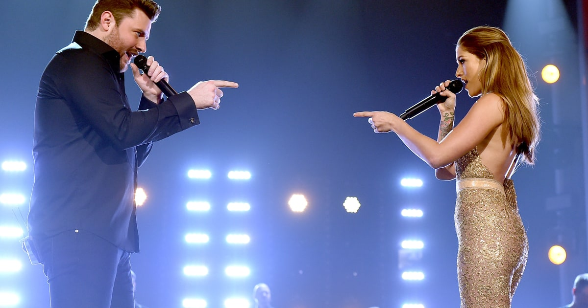 Best Harmonies Cassadee Pope And Chris Young Acm Awards