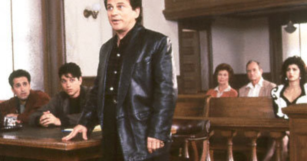 law and the movies my cousin Clip from my cousin vinny two carefree pals (ralph macchio and mitchell whitfield) traveling through alabama are mistakenly arrested, and charged with murder.