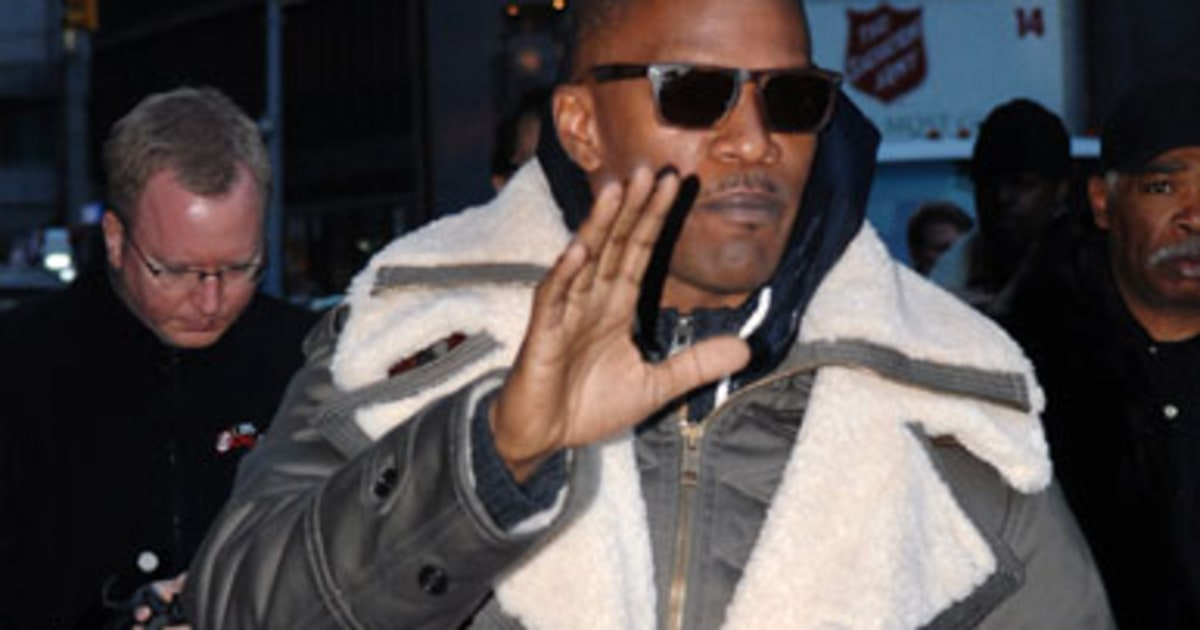 video jamie foxx says he was like a little schoolgirl