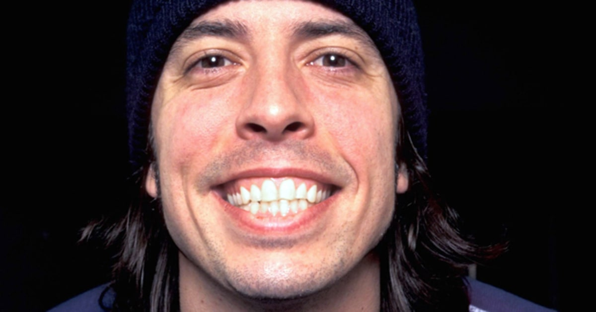 Dave Grohl úsměv